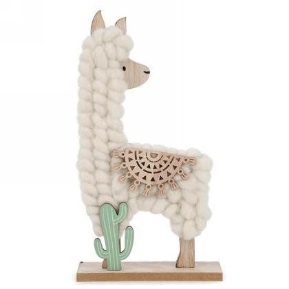Wool Trim Llama Party Favors Decor for Kids Table Ornament, 12
