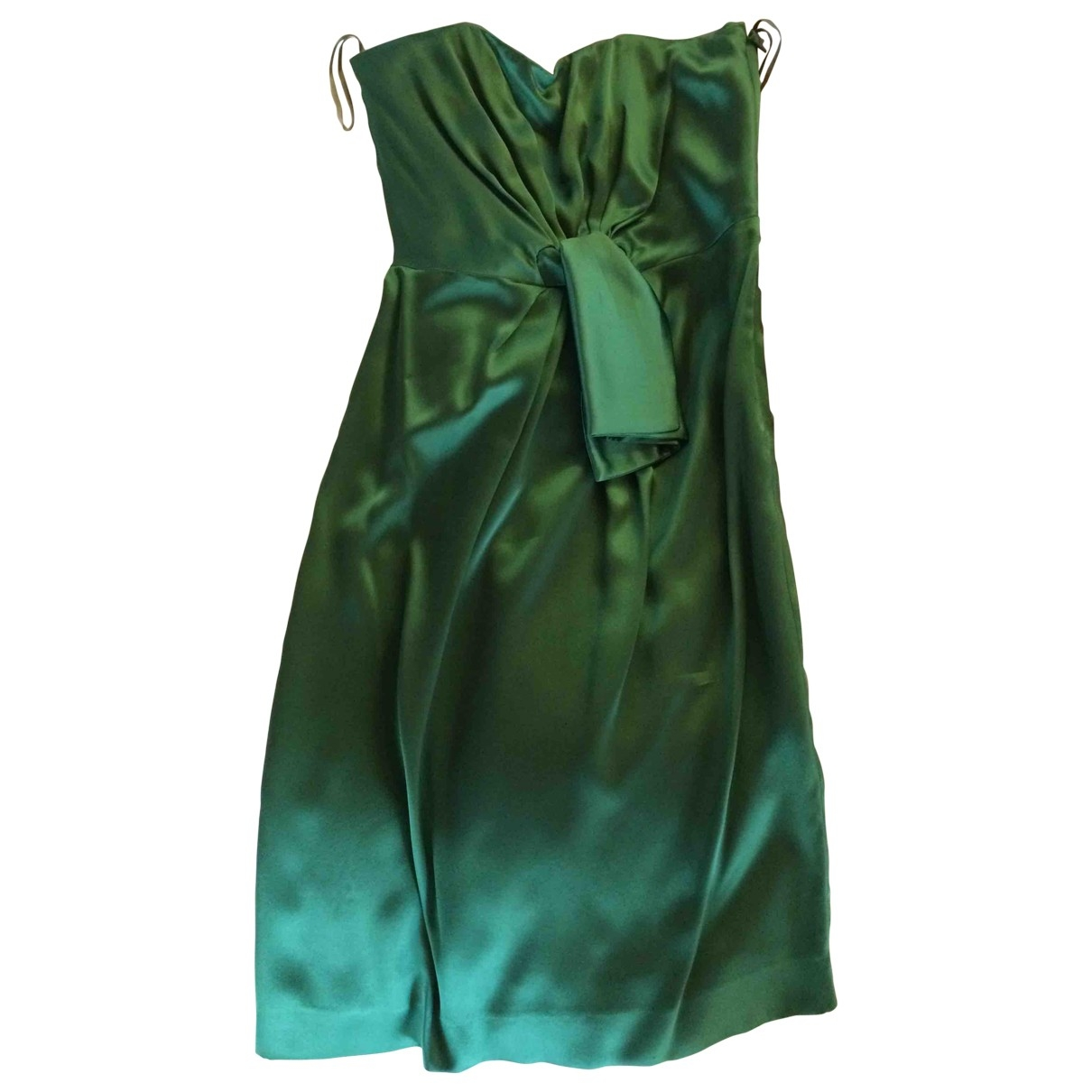 Vestido midi de Seda Philosophy Di Alberta Ferretti