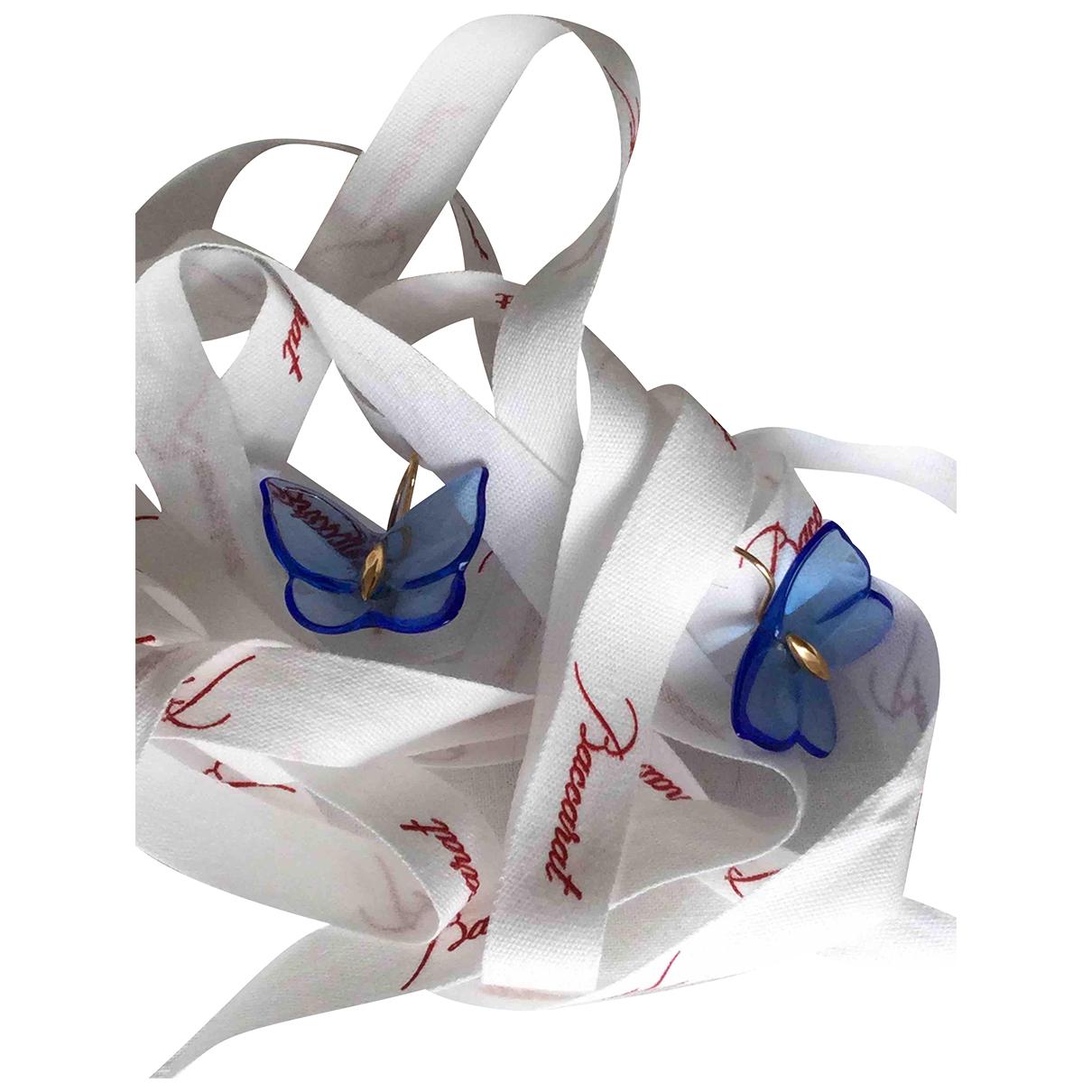 Baccarat - Boucles doreilles   pour femme en cristal - bleu
