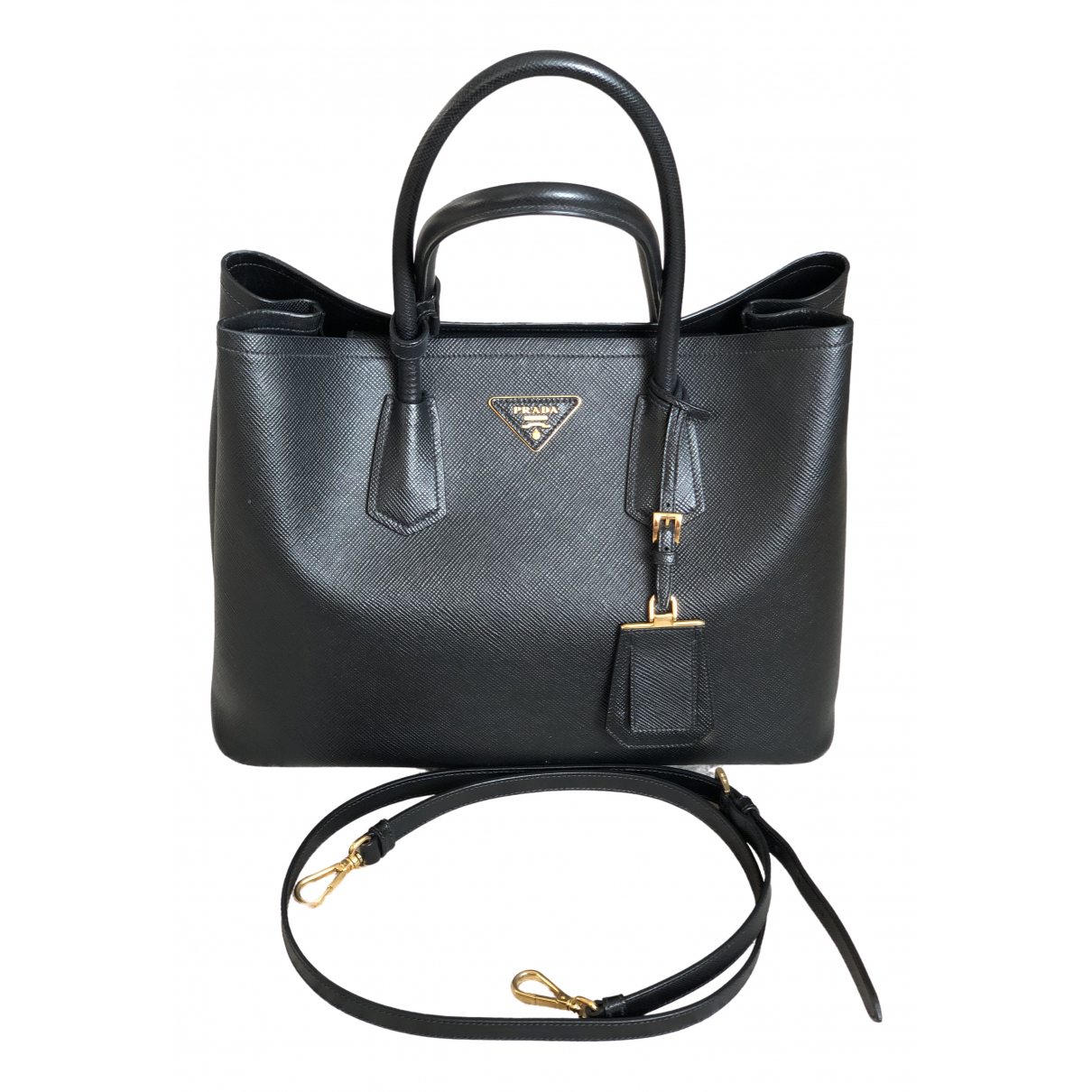 Prada Double Black Leather handbag for Women \N