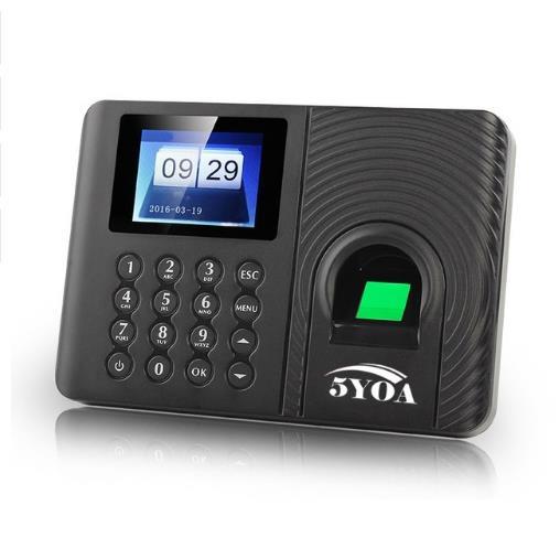 5YOA A10 Biometric Fingerprint Time Attendance Machine Clock Recorder Employee Recognition Device Electronic English Spa