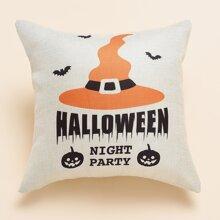 Halloween Kissenbezug mit Buchstaben Grafik ohne Fuelle