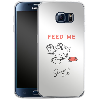 Samsung Galaxy S6 Silikon Handyhuelle - Feed Me von Simons Cat