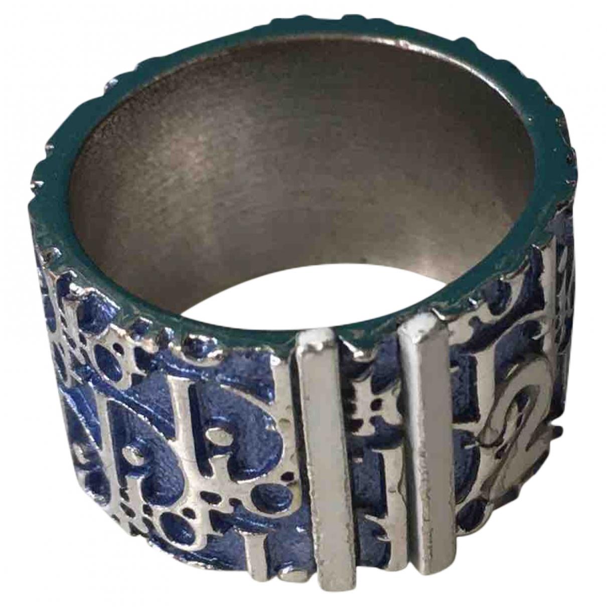Dior - Bague Monogramme pour femme en metal - bleu