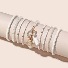 9 Stuecke Armband mit Quasten