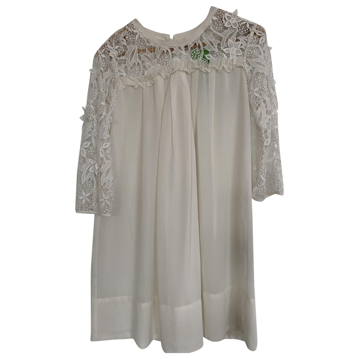 H&m Conscious Exclusive - Robe   pour femme en dentelle - blanc