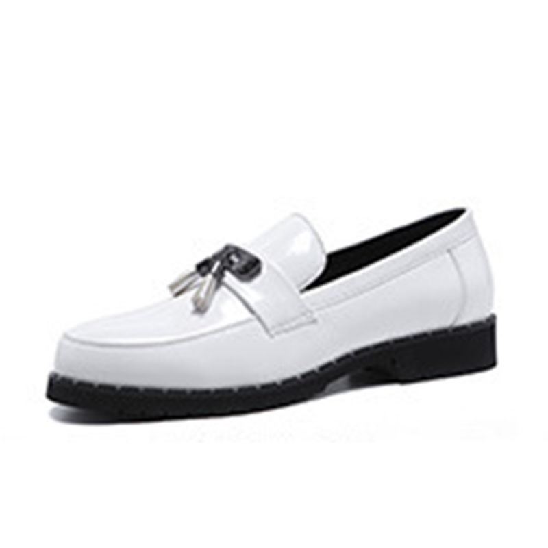 Ericdress Plain Fringe Round Toe Slip-On Men's Dress Shoes