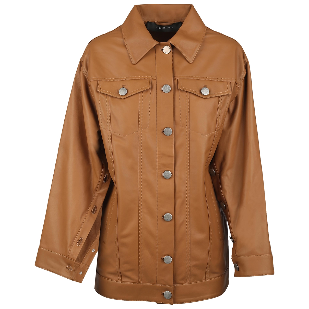 Federica Tosi \N Camel Leather Leather jacket for Women 40 IT