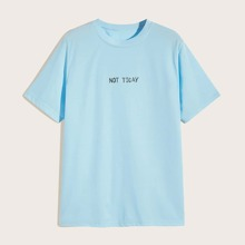 Men Letter Graphic Tee