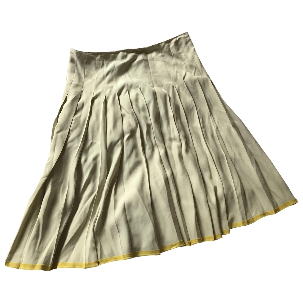 Prada \N White Silk skirt for Women 44 IT