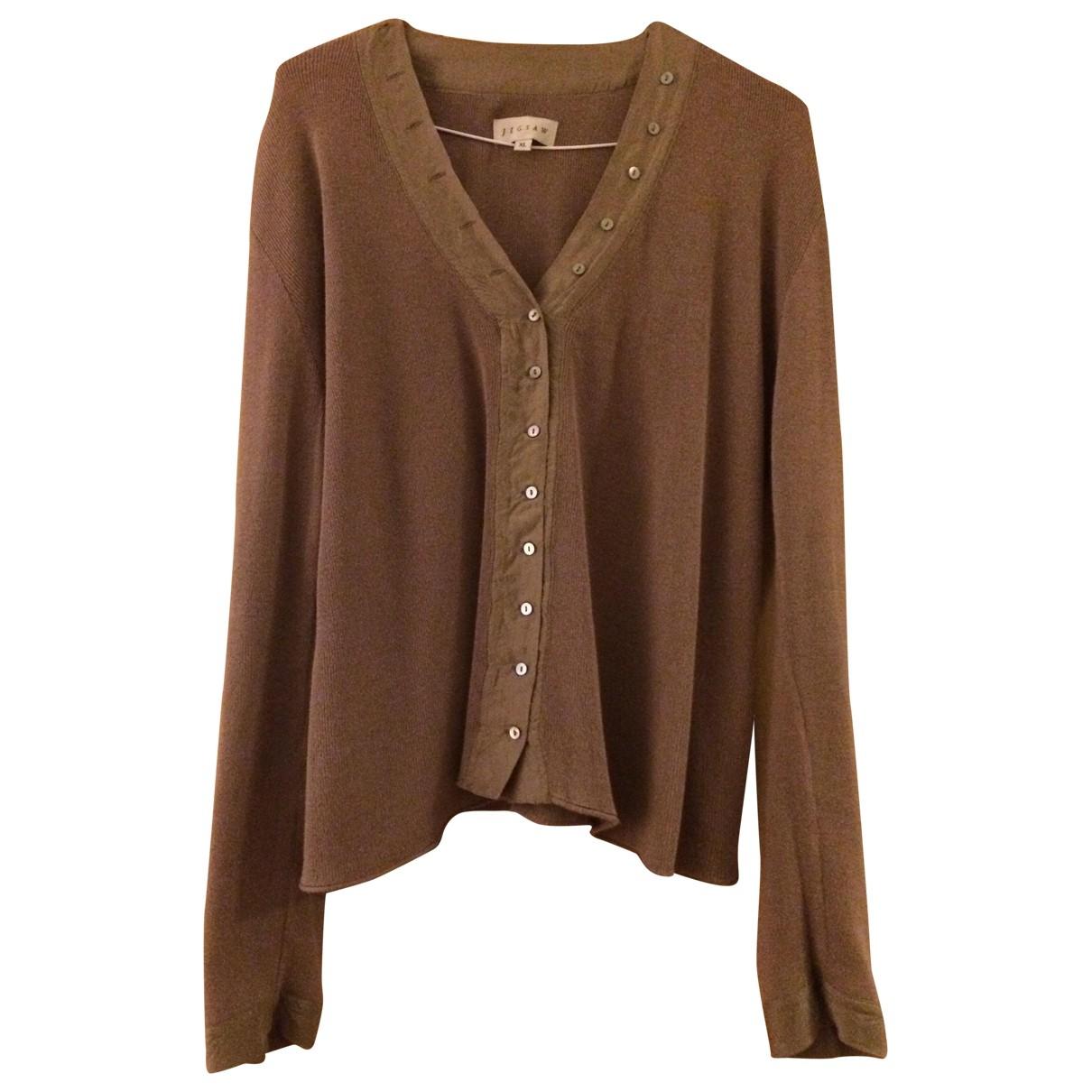 Jigsaw - Pull   pour femme en coton - marron