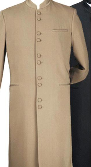 Alberto Nardoni Matrix Long Style Banded Collar Collarless Suits