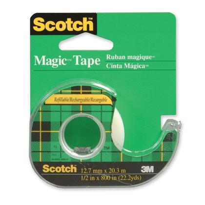 3M Scotch@ magique Ruban adh esif - Distributeur (12mm x 33m) 45138