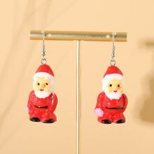 Christmas Santa Claus Drop Earrings