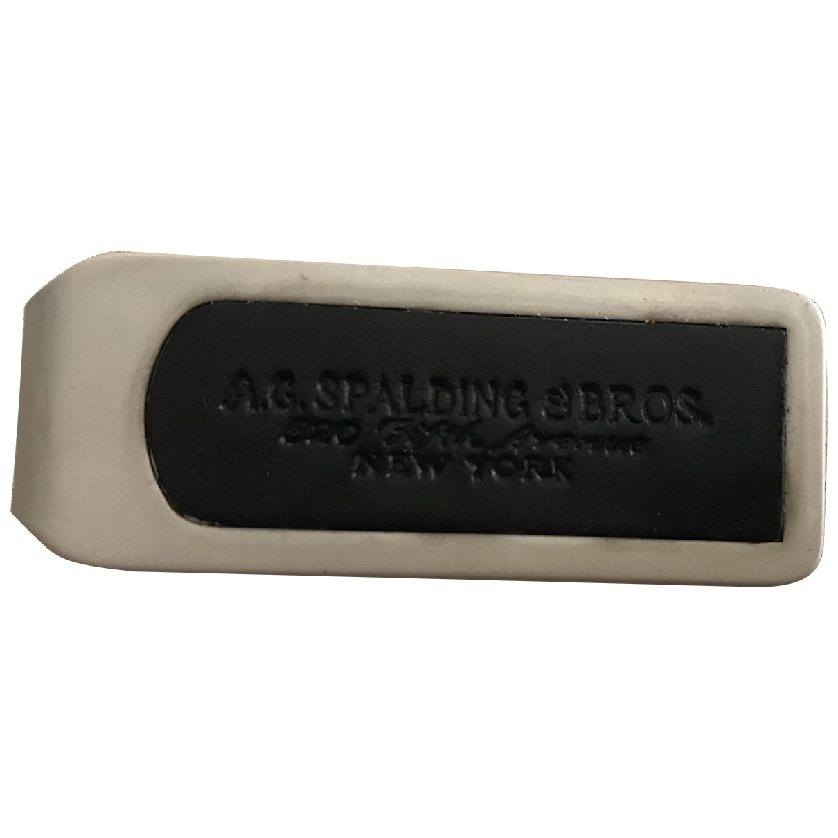 Ag Spalding & Bros \N Kleinlederwaren in  Schwarz Metall