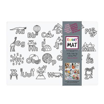Funny Mat® Tapis à colorier, taille moyenne, lavable et réutilisable - Alphabet