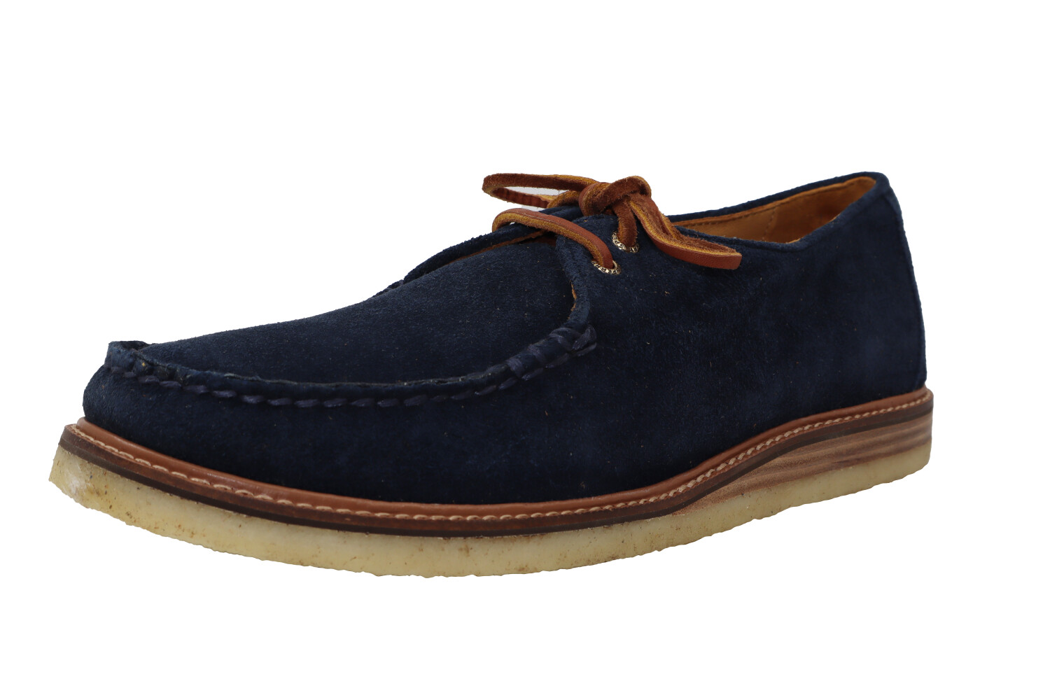 Sperry Men's Gold Cup Captains Oxford Blue Leather Loafers & Slip-On - 12M