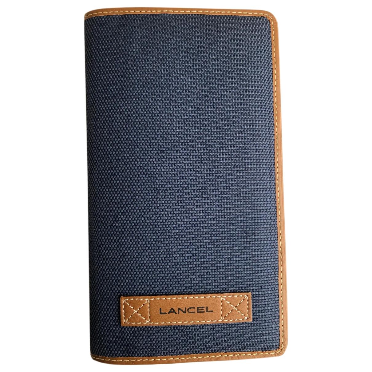 Lancel - Petite maroquinerie   pour homme en toile - bleu