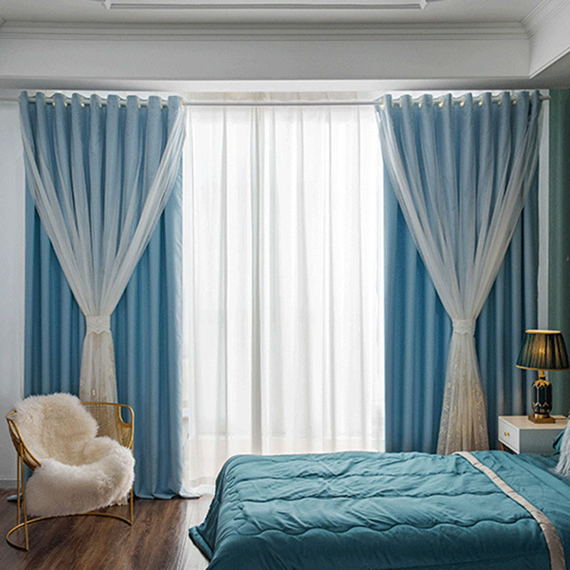 Modern Blackout Custom Teal Curtain Sets for Living Room Bedroom 84W 84L 2 Panel Set Physically Blocks Light Nicely Prevents UV Ray Excellent Performa