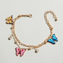Butterfly Layered Anklet