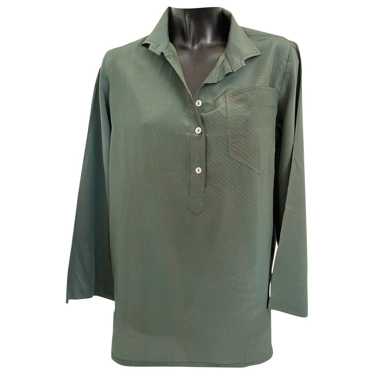 Chloé \N Khaki Silk  top for Women 38 FR