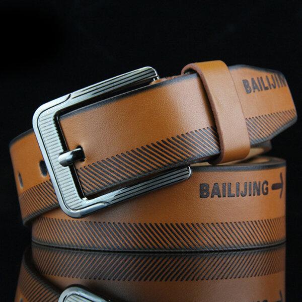 Mens Leather Belt Outdoor Slider Buckle Military Tactical Durable Belt Adjustable Pin Buckle Belt