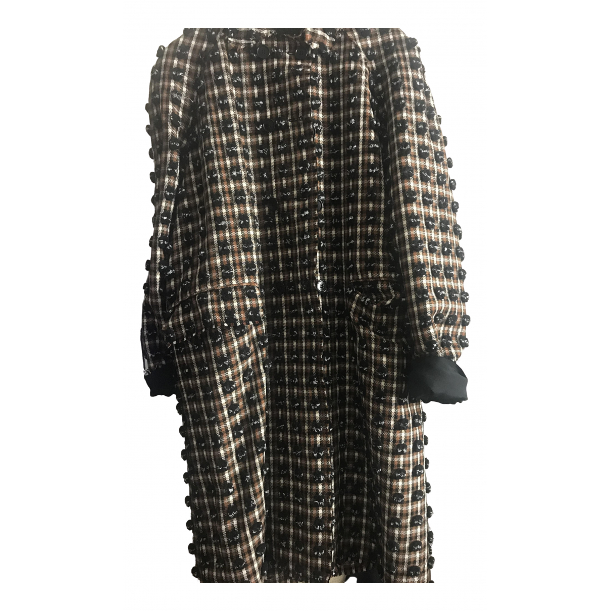 Msgm - Manteau   pour femme en laine - marron