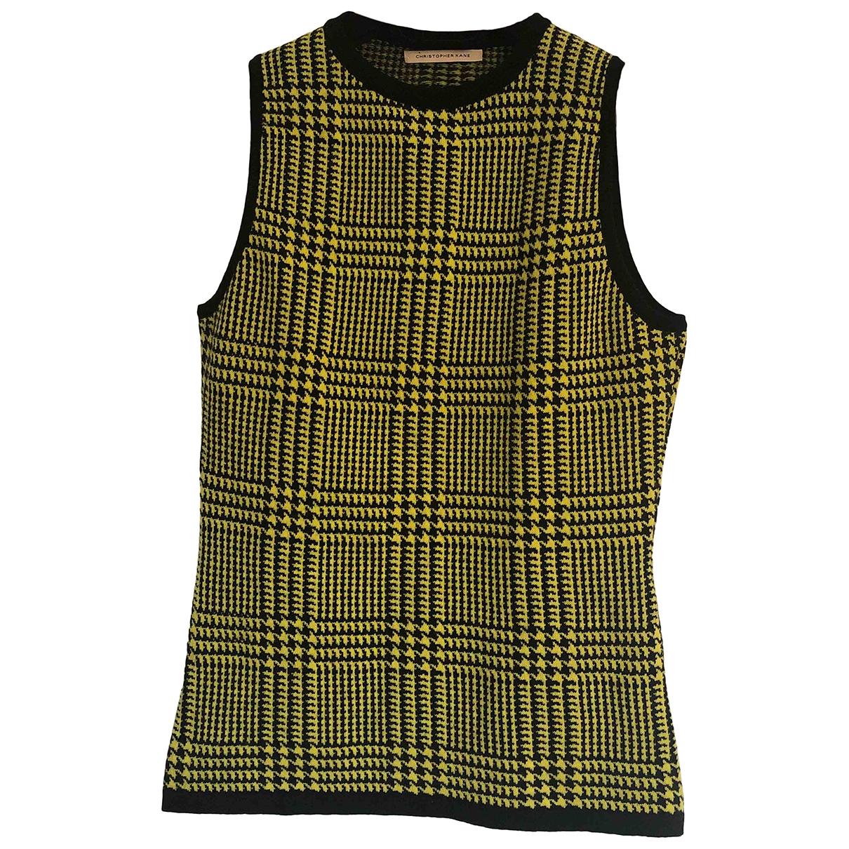 Christopher Kane \N Yellow Cashmere Knitwear for Women 12 UK
