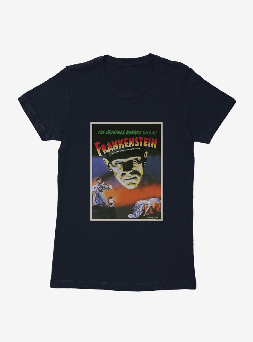 Universal Monsters Frankenstein Vintage Poster Womens T-Shirt