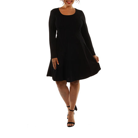 24/7 Comfort Apparel Temptress A-Line Dress-Plus, 2x , Black