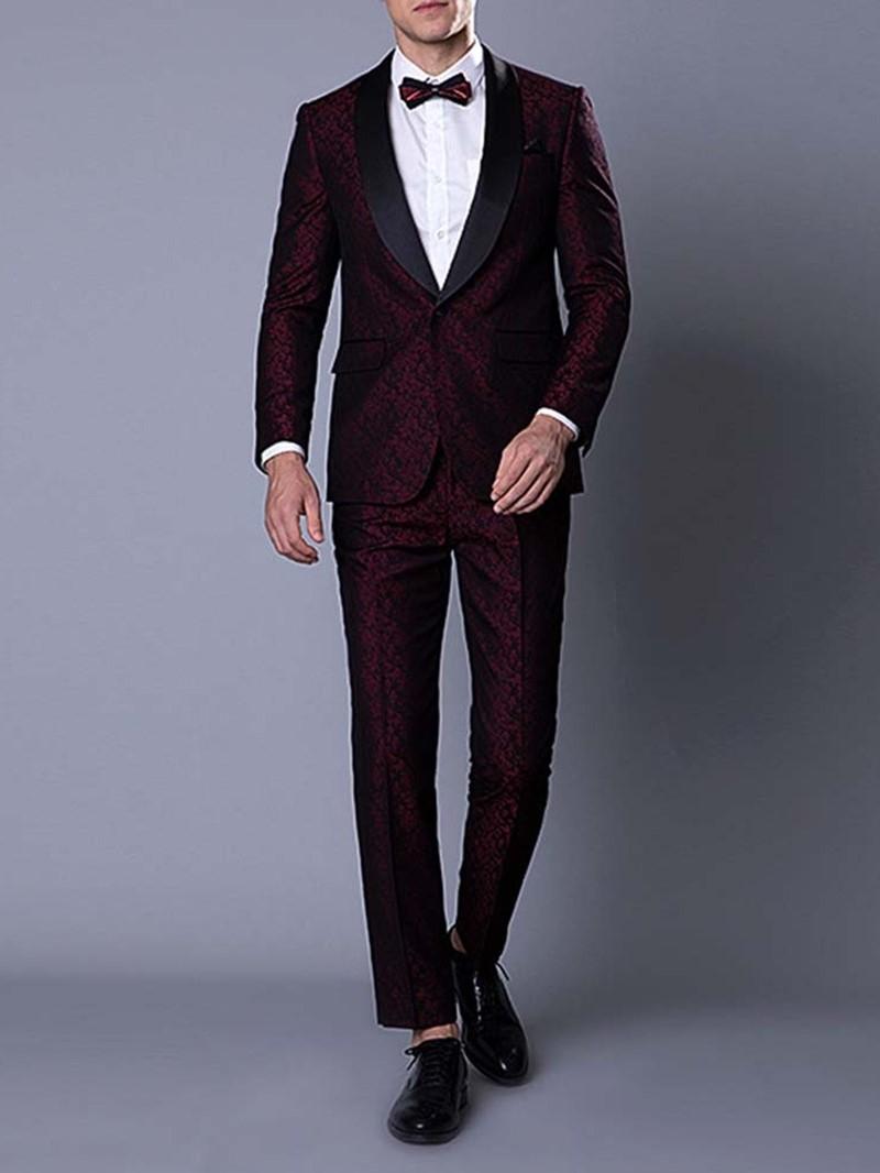 Ericdress Floral Fashion Print Men's Dress Suit