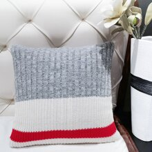 Color Block Cushion Cover Without Filler