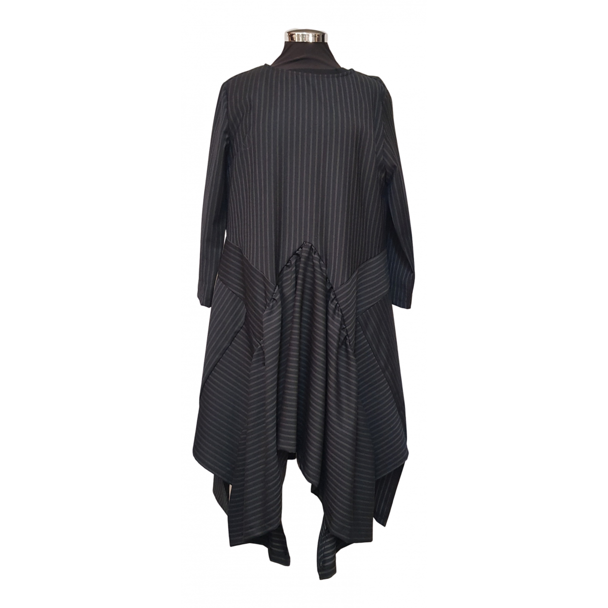 Non Signe / Unsigned Oversize Kleid in  Grau Polyester