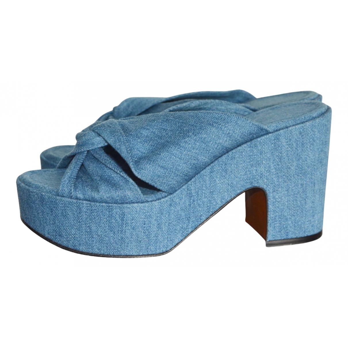 Robert Clergerie N Blue Cloth Mules & Clogs for Women 40 EU