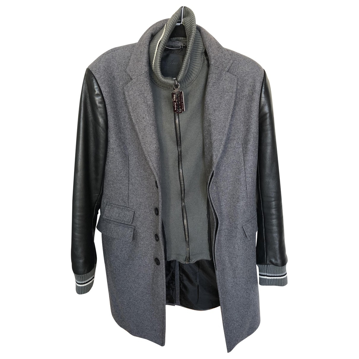 Philipp Plein \N Grey Wool coat  for Men L International
