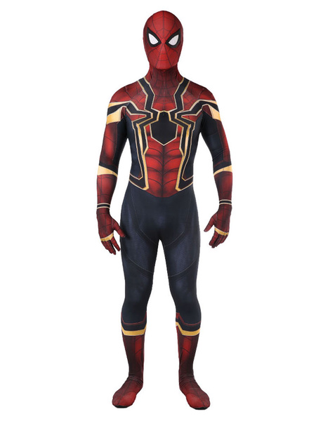 Milanoo Marvel Comics Avengers3 Infinity War Spider Man Peter Parker Halloween Cosplay Costume