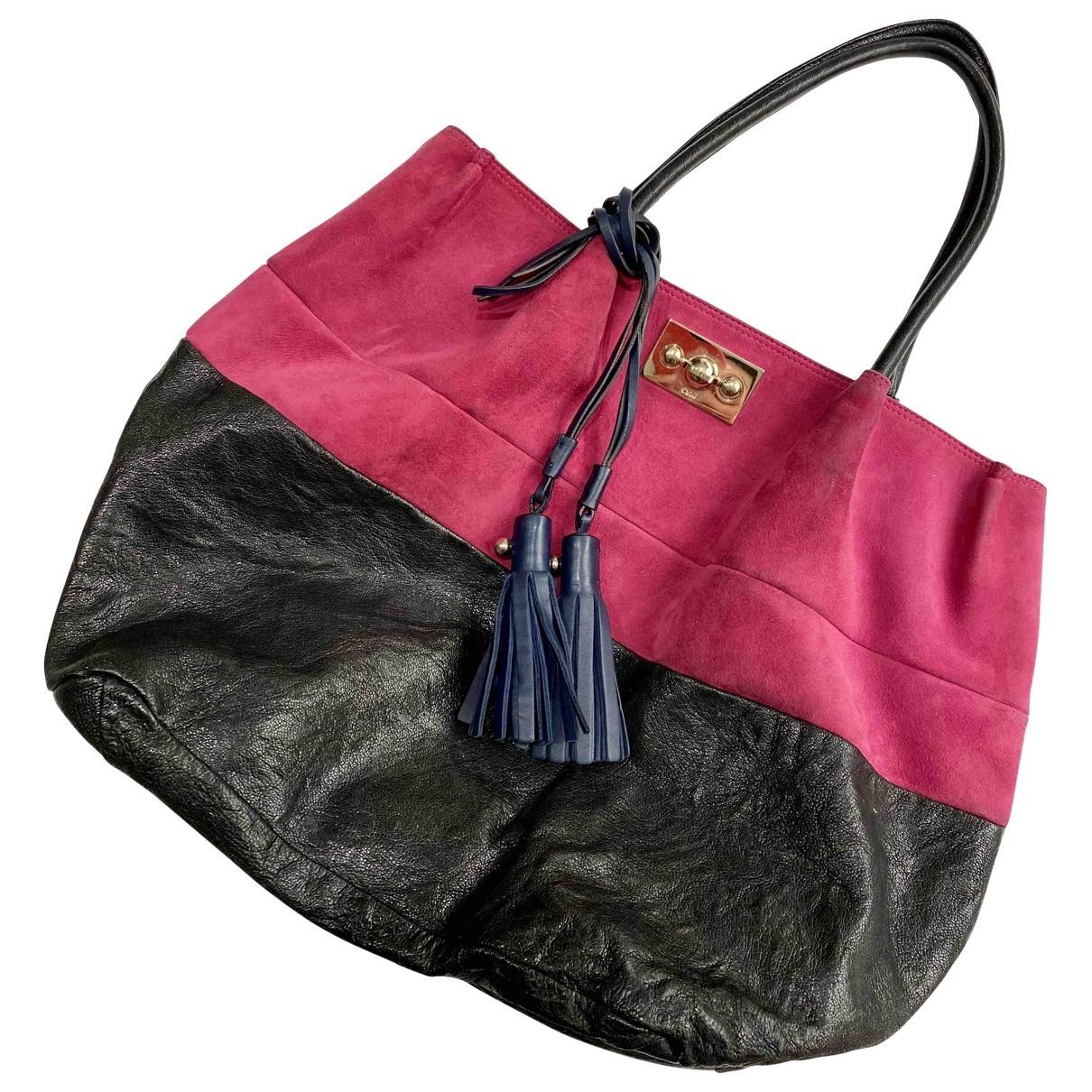 Chloe \N Handtasche in  Rosa Veloursleder