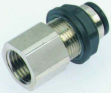 Legris Pneumatic Bulkhead Threaded-to-Tube Adapter, Push In 10 mm, G 3/8 Female BSPPx10mm (2)