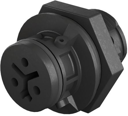 Wieland , RST 08i2/3 Female 2 Pole Circular Connector, Panel Mount, Rated At 8A, 50 V, 120 V, Grey (50)