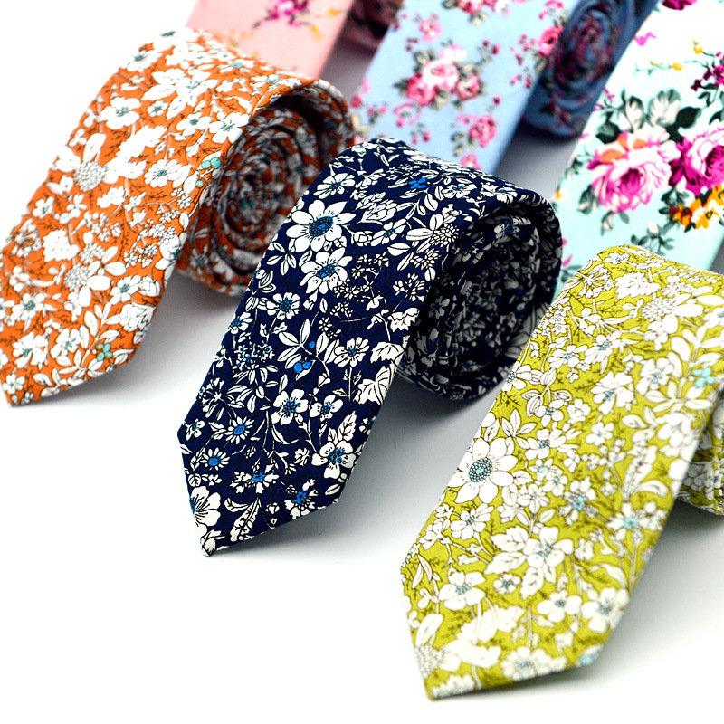 6CMPrinted Tie Ethnic Style Fashion Multi-color Tie Optional For Men