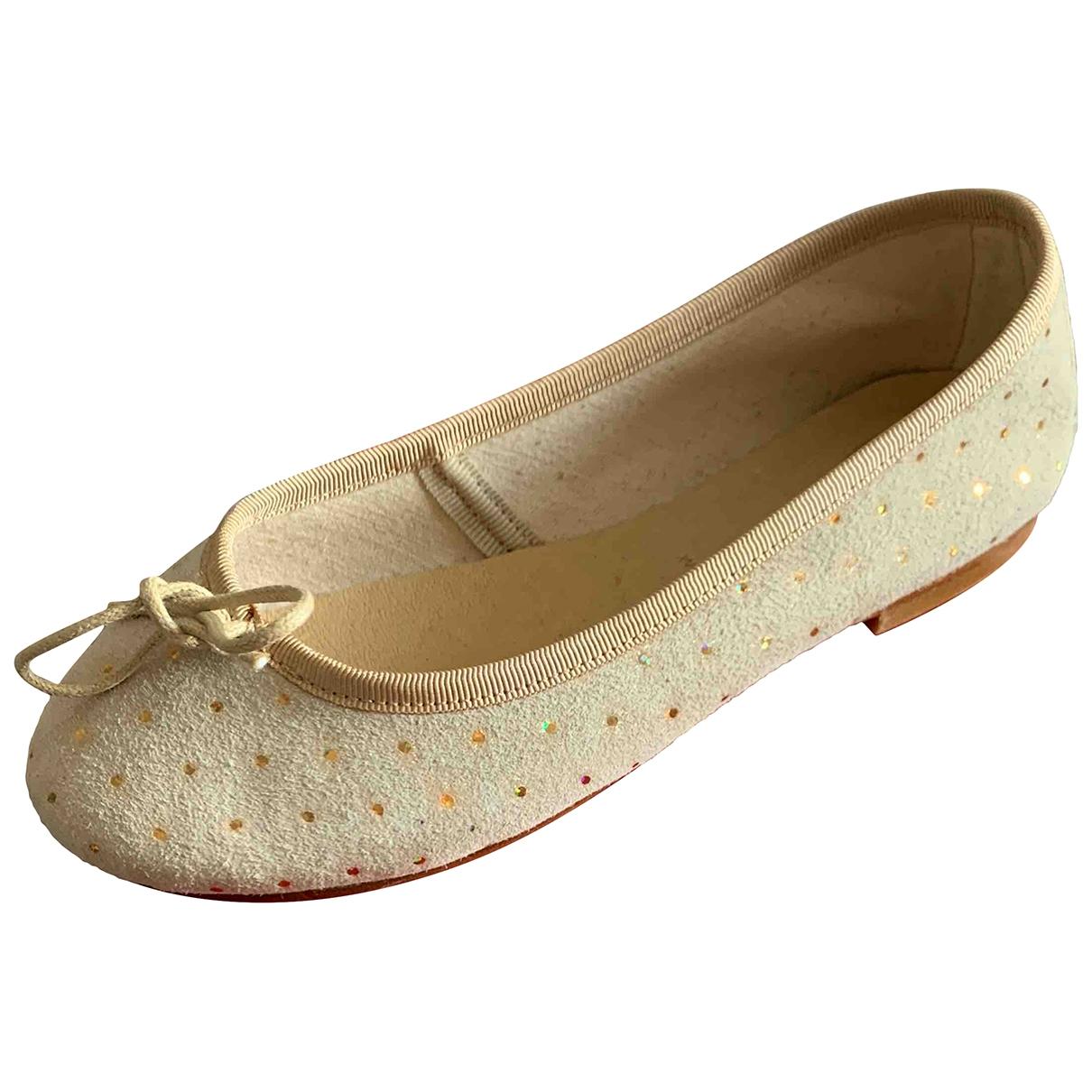Bonpoint \N Beige Suede Ballet flats for Kids 31 EU