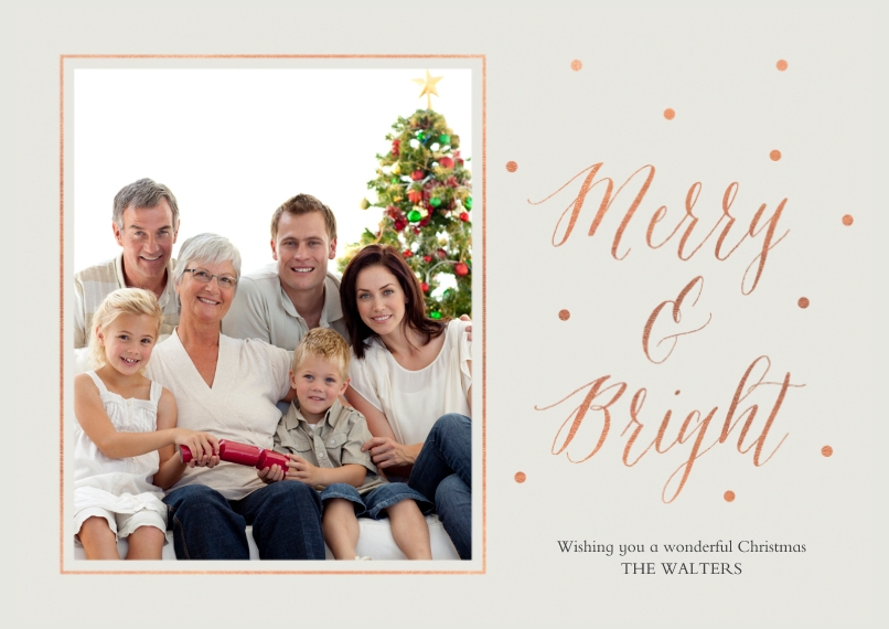 Holiday Photo Cards 5x7 Cards, Premium Cardstock 120lb with Elegant Corners, Card & Stationery -Graceful Joy