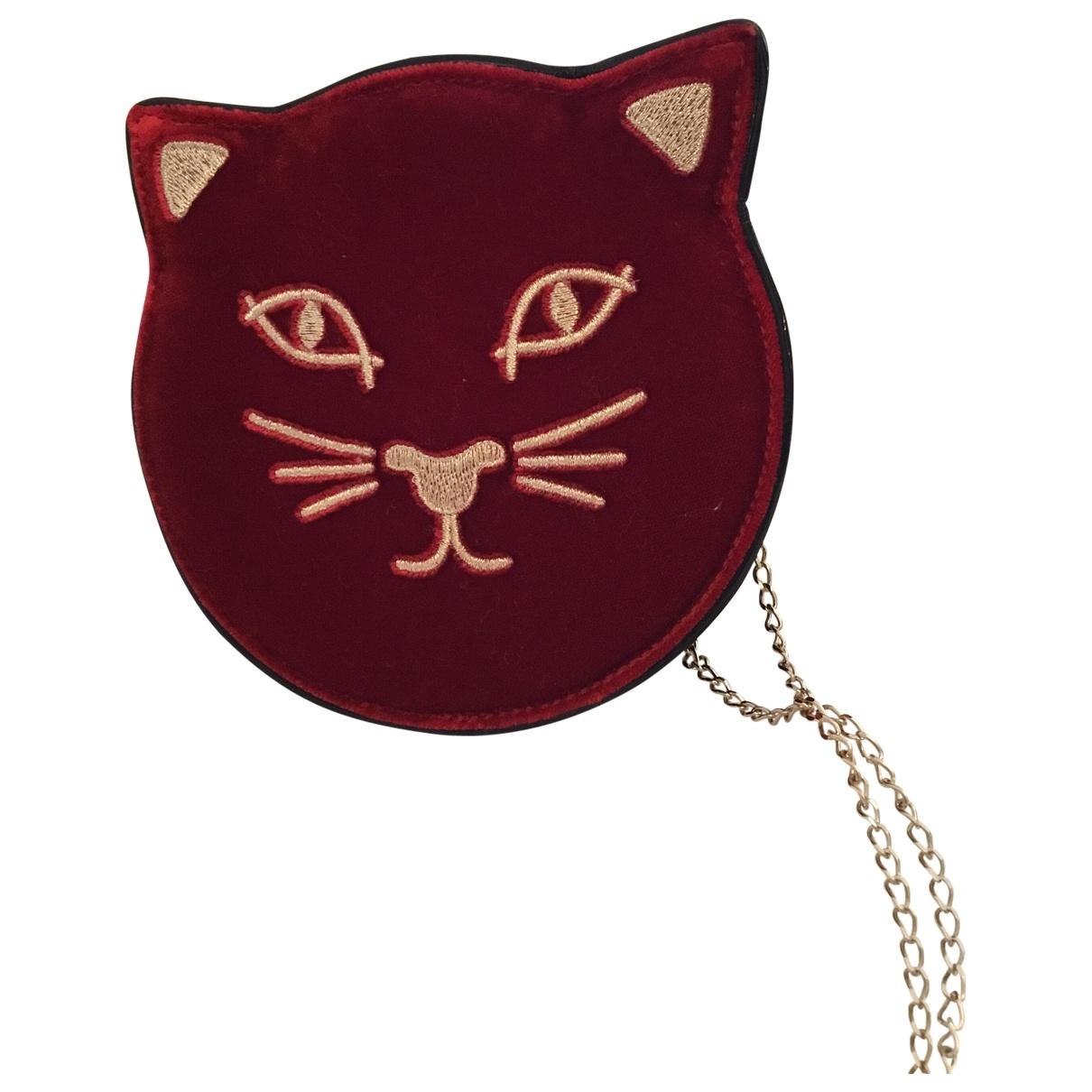 Charlotte Olympia \N Red Velvet handbag for Women \N
