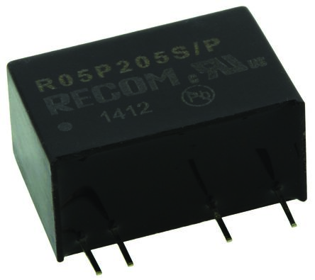Recom 2W Isolated DC-DC Converter Through Hole, Voltage in 4.5 → 5.5 V dc, Voltage out 5V dc