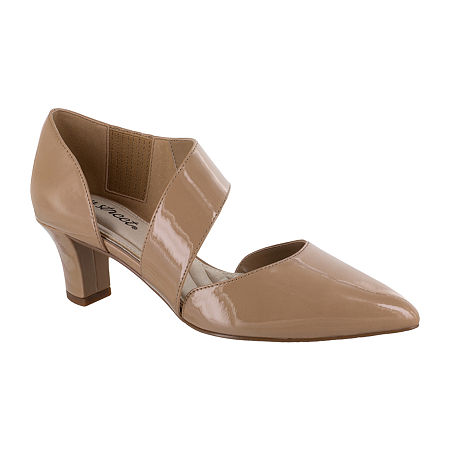 Easy Street Womens Dashing Pumps Spike Heel, 10 Medium, Beige