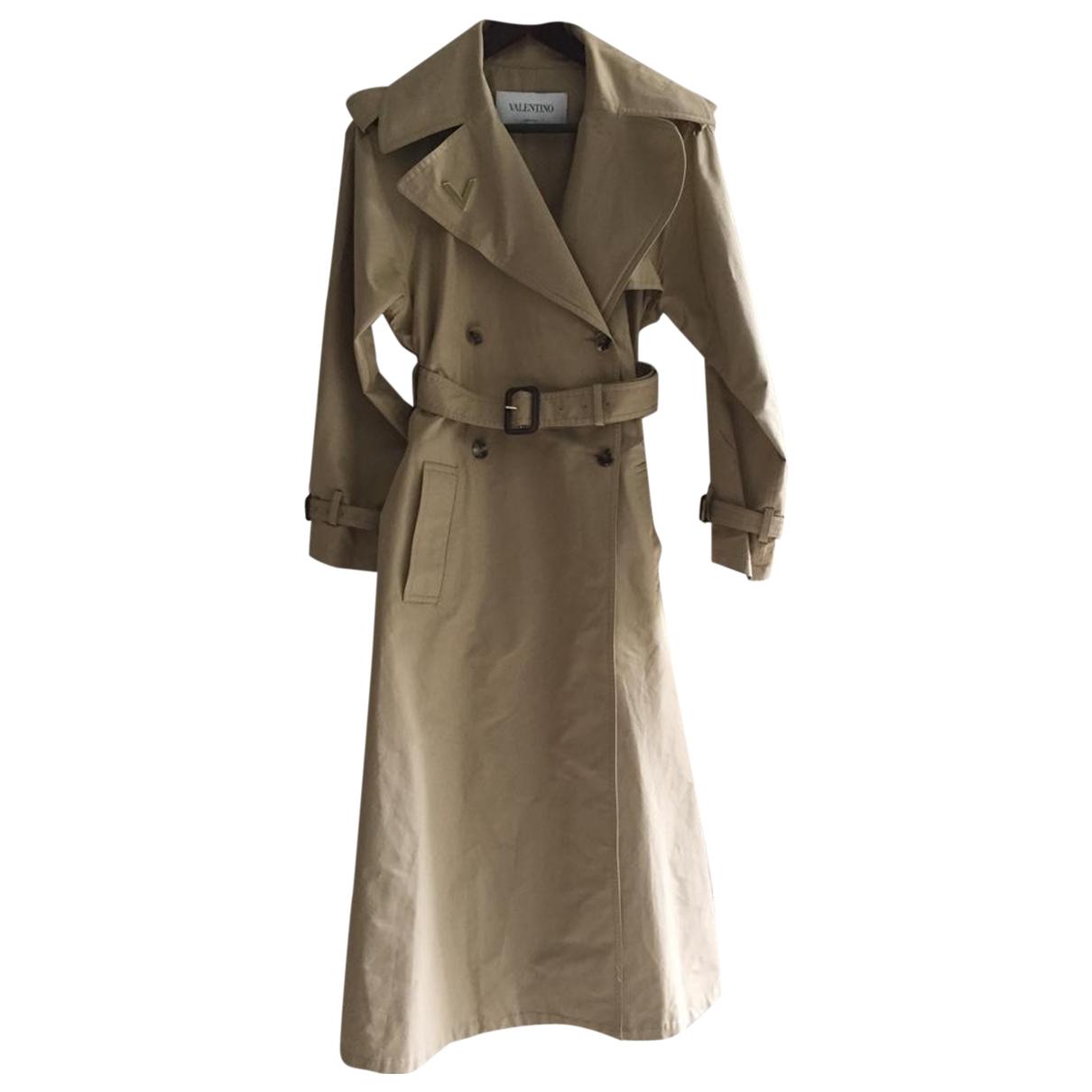 Valentino Garavani - Trench   pour femme en coton - beige
