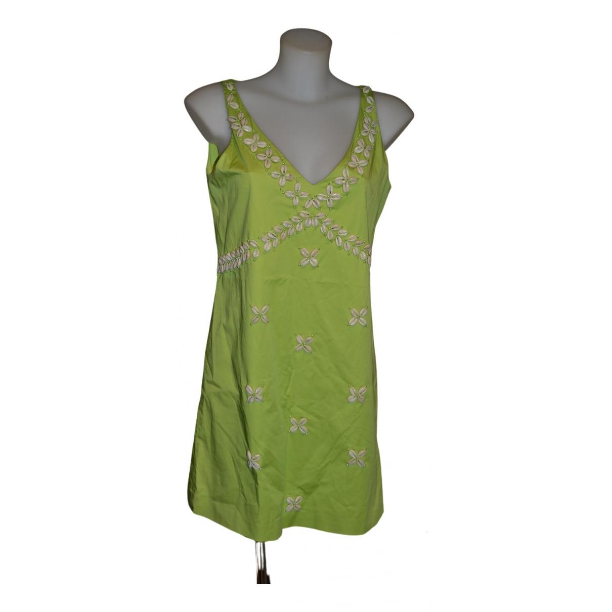 Moschino Cheap And Chic \N Kleid in  Gruen Baumwolle