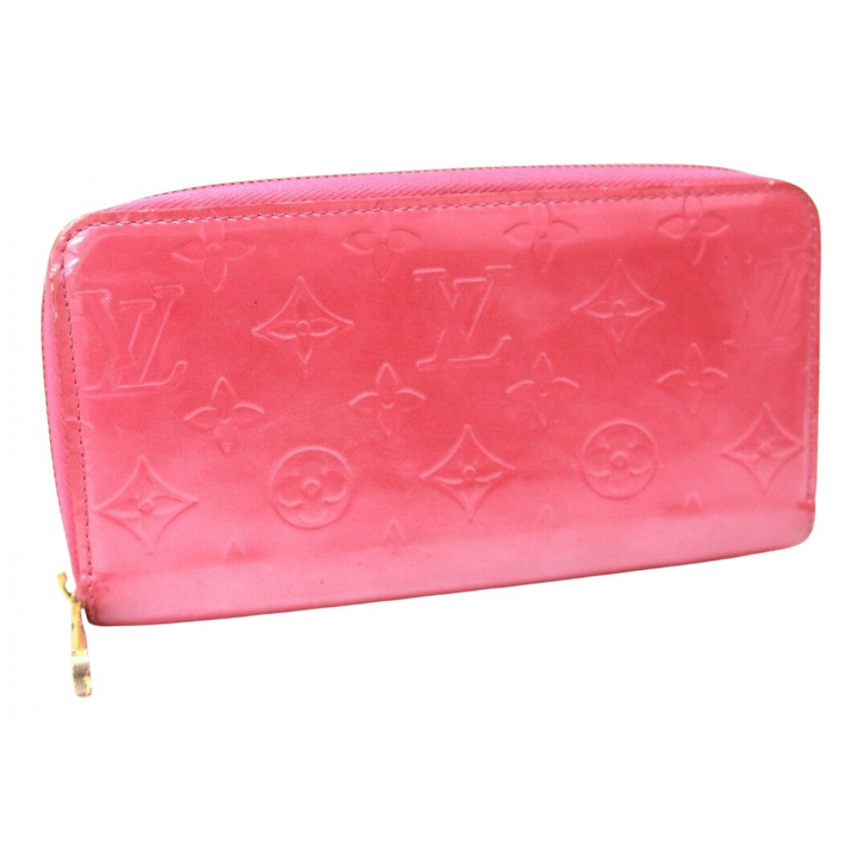 Louis Vuitton Zippy Pink Patent leather wallet for Women N