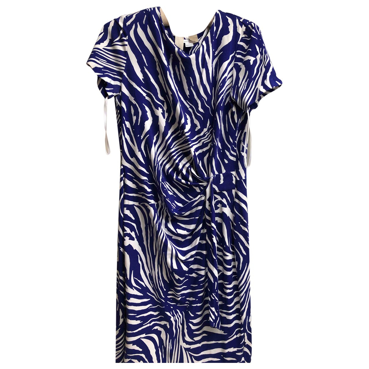 Diane Von Furstenberg \N Blue Cotton - elasthane dress for Women 12 UK