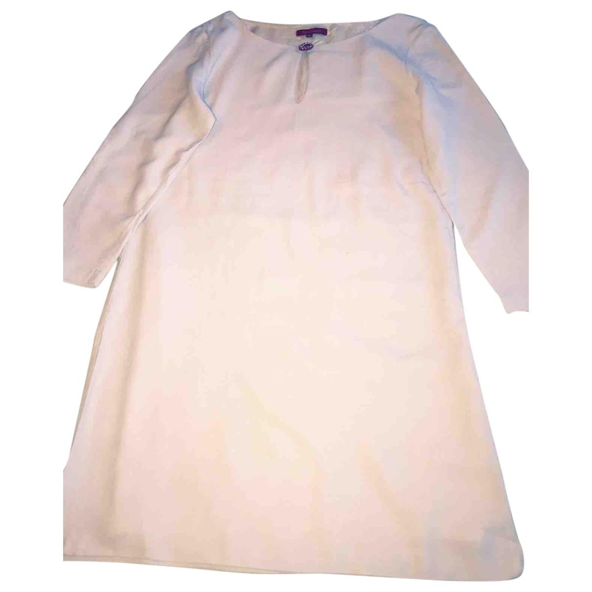 Tara Jarmon - Robe   pour femme en laine - ecru